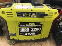 yellow and black Ryobi portable generator 20 mi