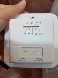 white Honeywell thermostat Ajax, L1Z 1G9