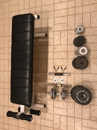 Dumbbell weights and bench Rockville, 20852
