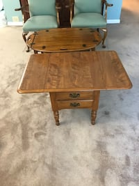 Decorative 2 Leaf Folding Table w/2 Draws content not included in sale Massapequa Park, 11762
