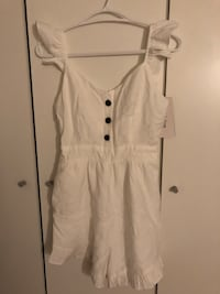 White jumpsuit with pocket