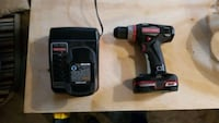 red and black cordless hand drill Easton