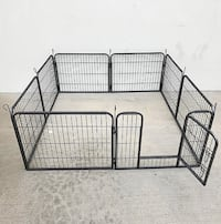 "New $60 Heavy Duty 24"" Tall x 32"" Wide x 8-Panel Pet Playpen Dog Crate Kennel Exercise Cage Fence Play Pen South El Monte"