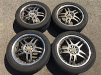 "17"" rims and tires 5x114.3 and 5x100 Mississauga, L5A 3L7"