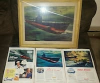 Vintage Pride of the fleet framed picture  Carmel, 10512