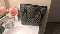 Black and gray coach monogram tote bag Inwood, 25428