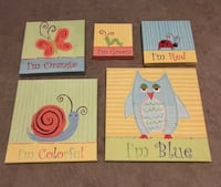 Kids wall art - 5 canvases Whitchurch-Stouffville, L4A 1T5