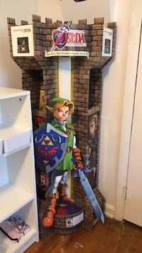 Legend of Zelda Nintendo standee store display rare Takoma Park, 20912