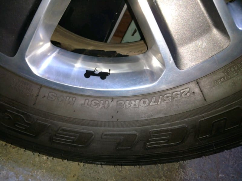 Like new tires and rims for a Jeep 2018 JL e8eed8d9-fd89-449a-aa2b-0ffa6f9bc907