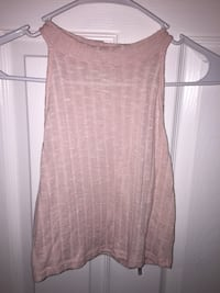 knit pink scoop-neck sleeveless top
