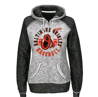 Baltimore Orioles Majestic Black Flash Pitch Full Zip Women's Hoodie Milford Mill, 21244