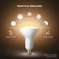 Philips Hue 2-Pack White BR30 60W Dimmable LED Sma Toronto