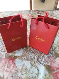 red and white leather tote bag Corona