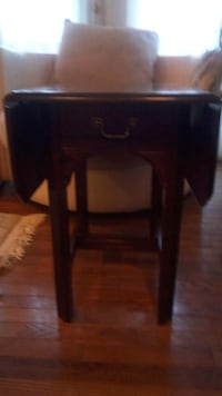 black wooden 2-drawer end table 35 km