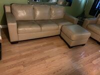 brown leather tufted sectional sofa Baltimore