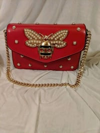 Red leather with gold and pearls accents. Halethorpe, 21227