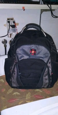 black and gray leather backpack Citrus Heights, 95610