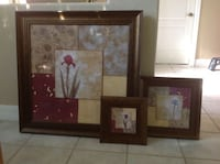 two brown wooden framed paintings Fort Myers, 33908