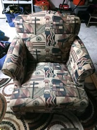brown and white fabric sofa chair Gonzales, 70737