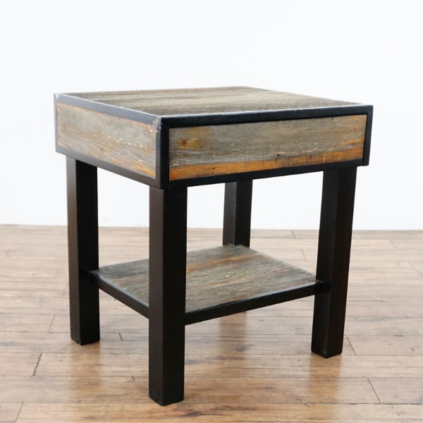 Environment Furniture Reclaimed Peroba Wood End Table 1016846