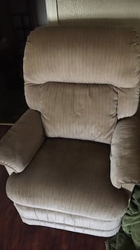 Light brown recliner chair