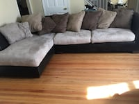 2 piece sectional with pillows Round swivel chair Ottoman PICK UP ONLY Cherry Hill, 08002
