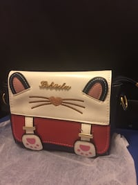 Brand new Cute cat face White and red leather handbag  Newcastle Upon Tyne, NE5 5LP