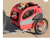 HoundAbout™ II Medium Bicycle Pet Trailer in Red Oshawa