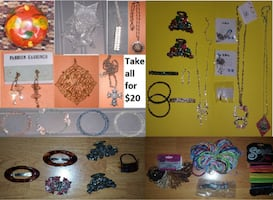 Fashion Bling Jewelry and Hair Clips Lot ($20)