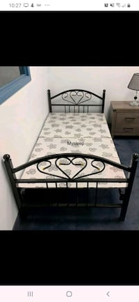 foldable single bed with comfortable matress.