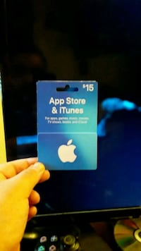 15$ gift card for I tunes ready to use Anchorage, 99501