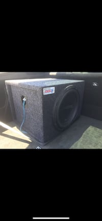 "12"" gold sub and amp"