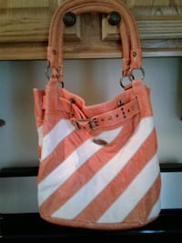 women's Orange and white striped shoulder bag Hubbard, 44425