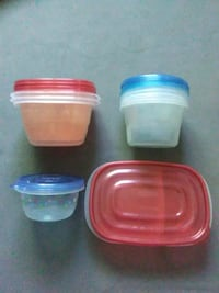 Lot Of 10 Storage Containers Rubbermaid Glad Ziplo Redding, 96003