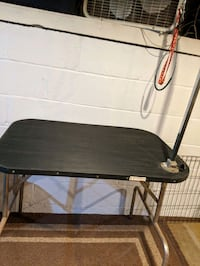 Dog Large Folding Grooming Table with Arm