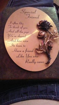 silver and black Special Friend quote printed wall decor