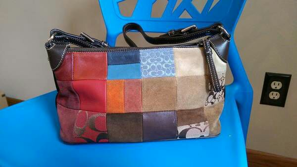 Photo Coach patchwork leather handbag