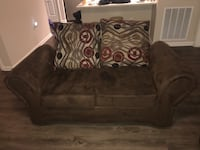 Brown loveseat and sofa Concord, 28027