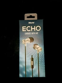 iWorld Echo Earbuds w/Mic Reading