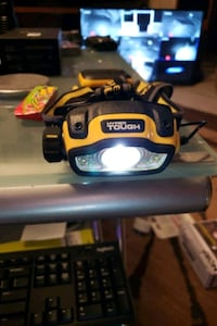 HYPER TOUGH  Ultra bright headlight takes 3 batteries this will impres