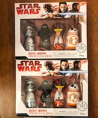 Brand new (2) Star Wars Body Wash Set of 4 Galactic Scents(pick up only) both $8 Alexandria, 22315