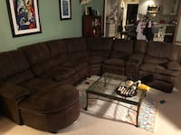 Large espresso sectional with chaise  Fairfax, 22033