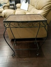 Metal/ Cane End Table