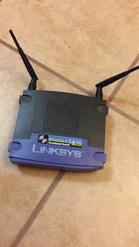 Black linksys wireless router