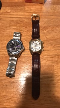 Invicta ($10, needs new battery) and Stauer (dark brown) watch. Great value at $50. Arlington, 22201