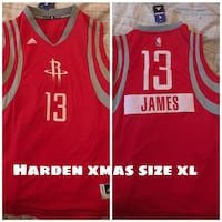 red Adidas Houston Rocket James Harden 13 jersey shirt Deep River, 06417