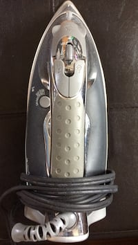 Silver and white clothes iron-new!!