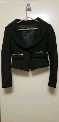 black wool jacket by Bebe Toronto, M9M 2X2