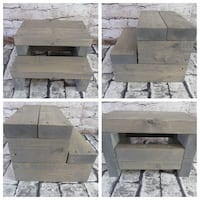 New Rustic Farmhouse Steps All Gray Stain Mission