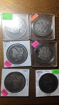 Coins silver dollars 25.00 and up Chesapeake